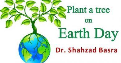Earth day and moringa plantation